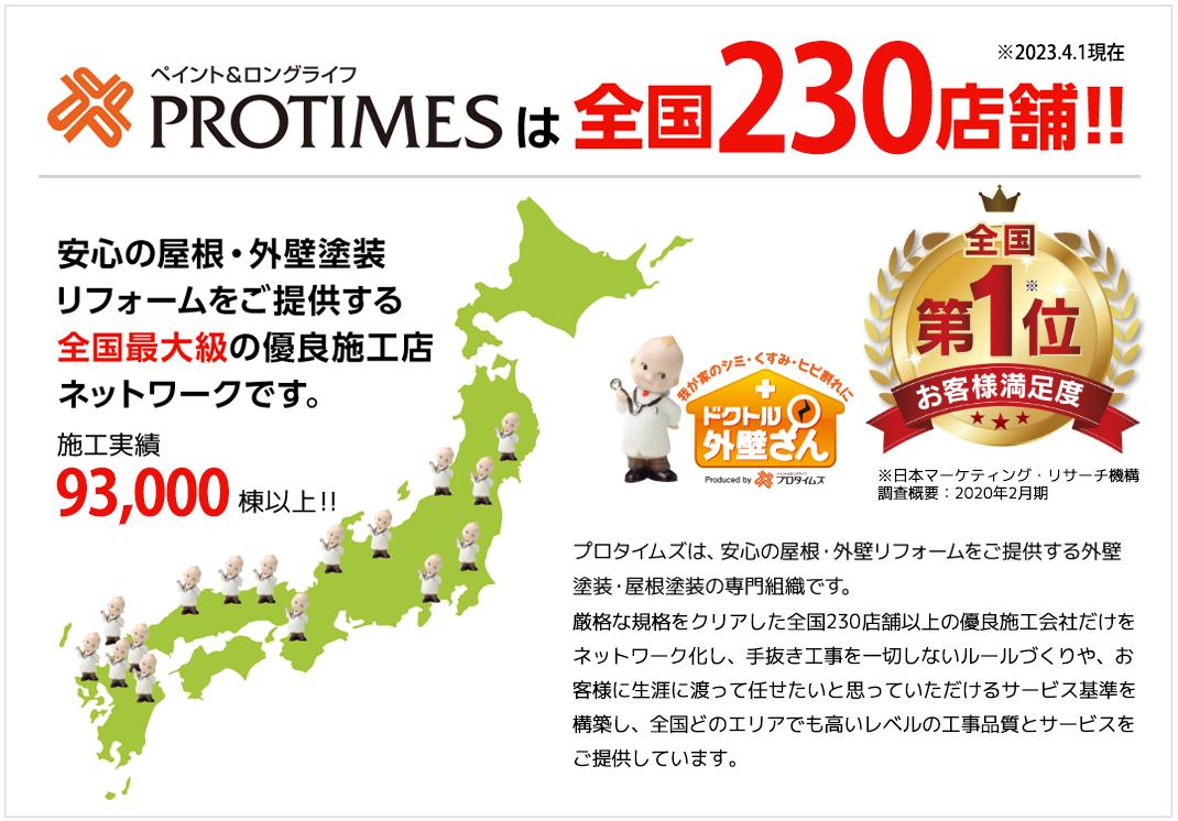 PROTIMESは全国120店舗
